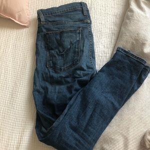 Hudson, medium rise skinny jeans!